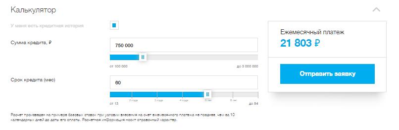 Онлайн калькулятор Локо-банка по кредитам